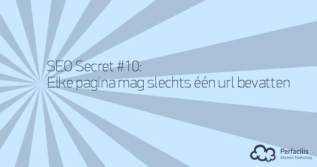 10: Elke pagina mag slechts één url bevatten
