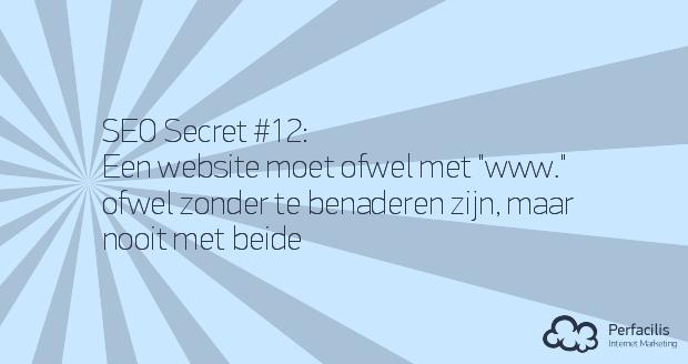 12: Een website moet ofwel met