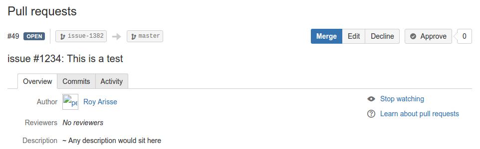 bitbucket pull request merge pagina