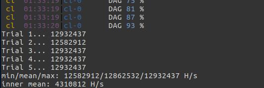 ethminer benchmark results