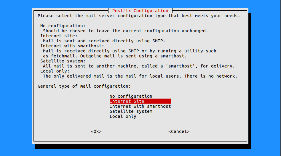 Linux mailrelay installeren met postfix en mysql back-end