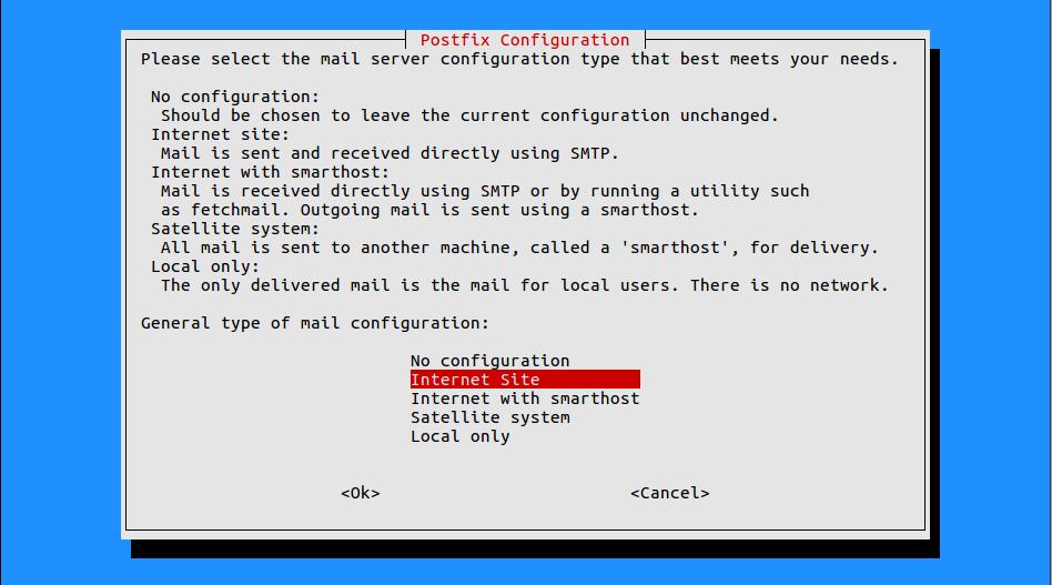 Linux mailrelay installeren met postfix en mysql back-end